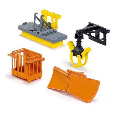 Siku tractor accessoires voor Siku tractors met voorlader (schaal 1:32)