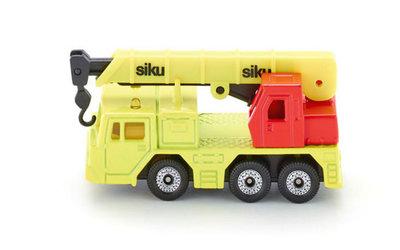 Vrachtwagen met hydraulische kraan (schaal 1:87)
