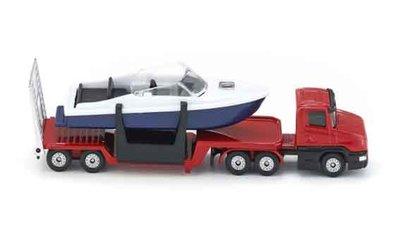 Siku vrachtwagen dieplader met boot