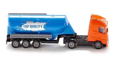 Siku vrachtwagen met silotrailer (schaal 1:87)
