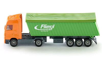 Siku vrachtwagen met tipping oplegger (schaal 1:87)