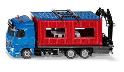 Siku Mercedes bouwcontainer transporter (schaal 1:50)