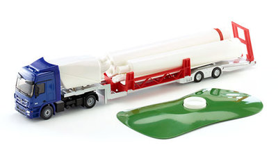 Siku vrachtwagen met windturbine (schaal 1:50)