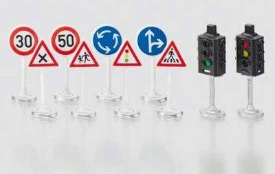 Siku World stoplichten en verkeersborden (schaal 1:50)