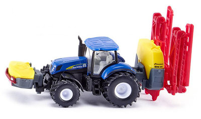 Siku New Holland tractor met Kverneland veldspuit (schaal 1:87)
