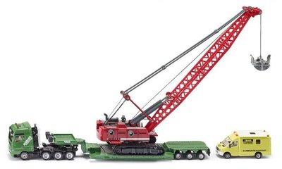 Siku Zwaar transport met kabelgraaf machine en begeleidend voertiug