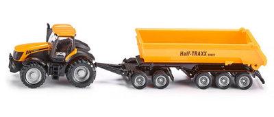 Siku JCB tractor met dolly en dump-body